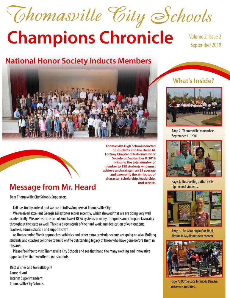 District Newsletter: September 2019