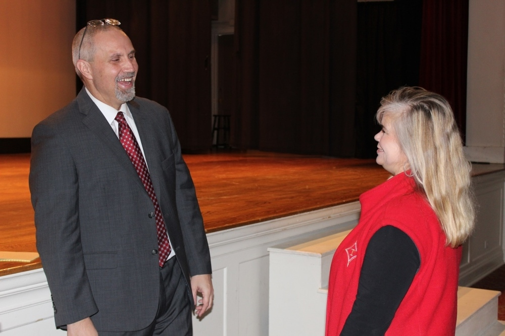 Faculty and Staff Meet Superintendent Wiggins