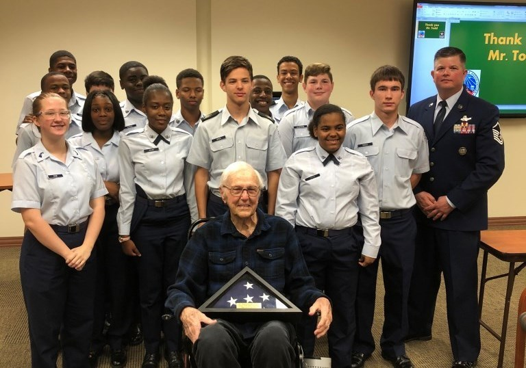 THS AFROTC Honors Local Veteran