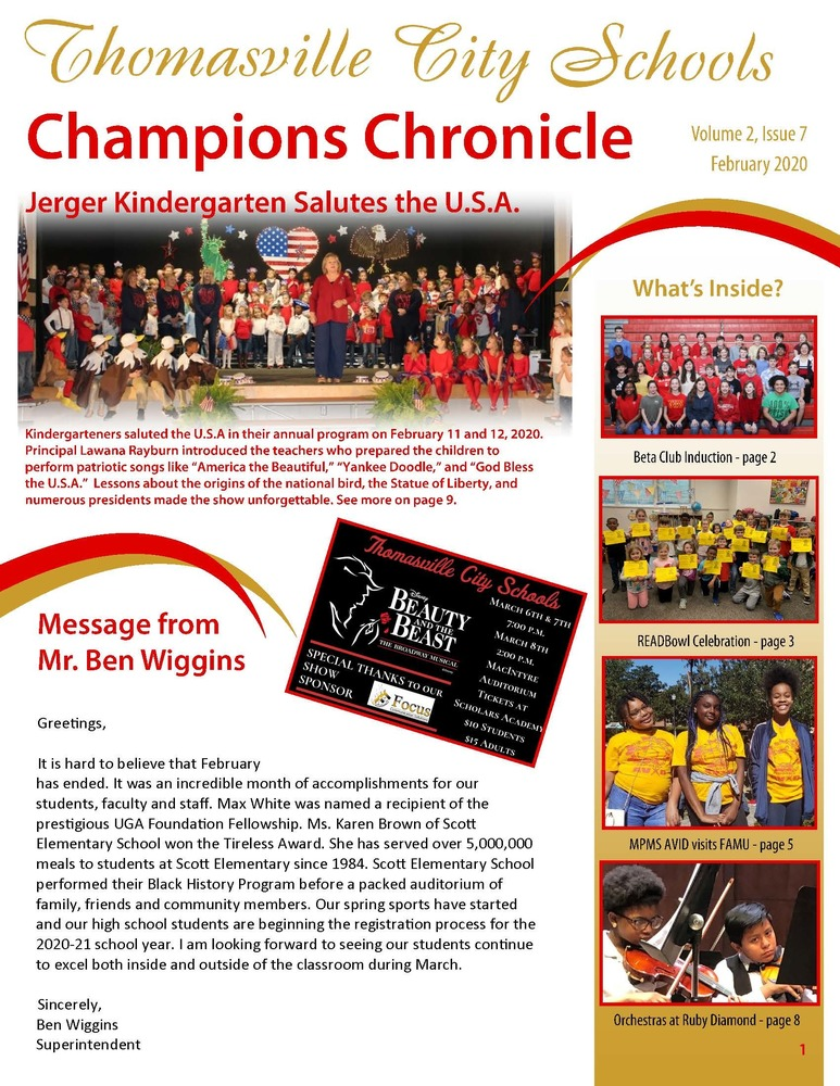 February 2020 Champions Chronicle