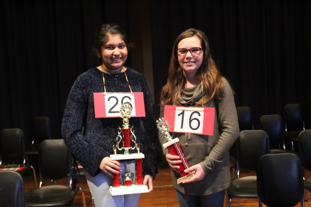 Middle School Spelling Bee Champs