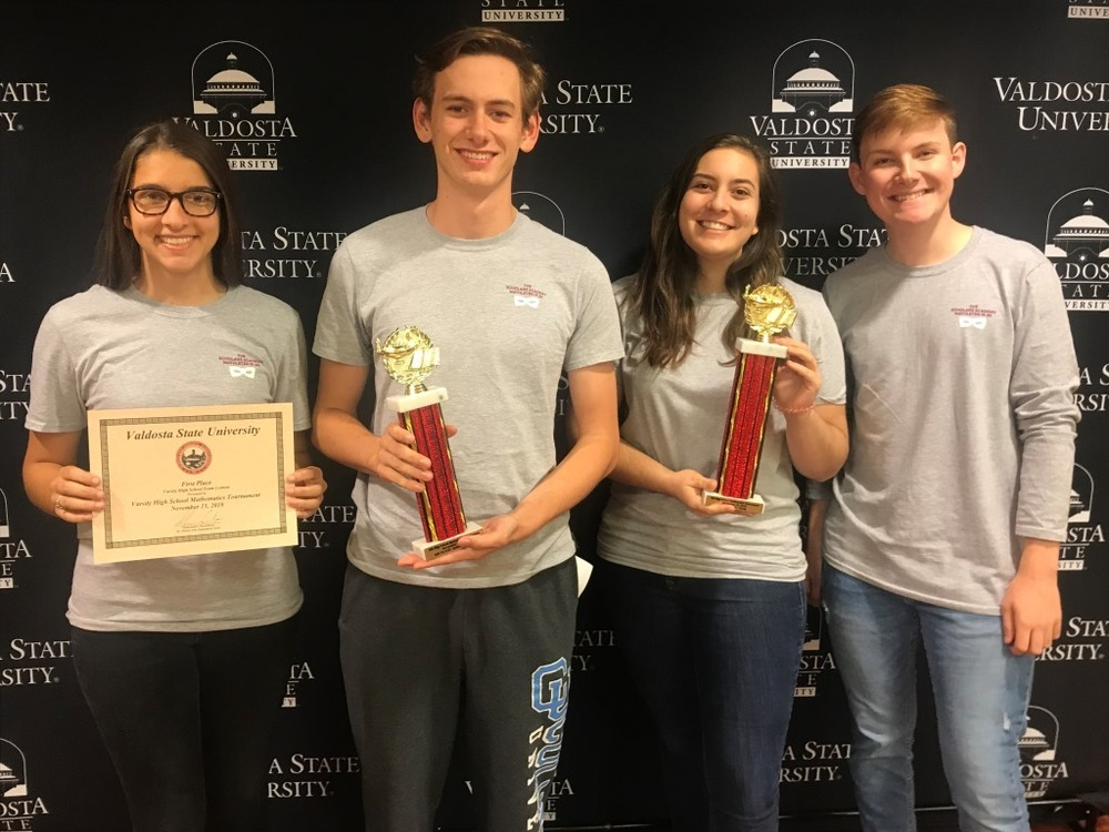 Mathletes Capture First at VSU Tournament
