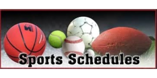 Revised Weekly Athletic Schedule for Week of 2-24-20