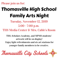 Family Arts Night @ THS