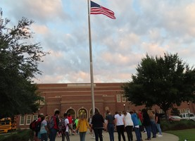 "Students, Faculty, and Staff - ""Meet at the Flagpole"""