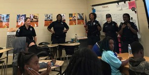 MPMS Career Class gets visit from Thomasville's Female Police Officers
