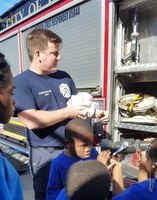 Scotties Visit and Explore Fire Department