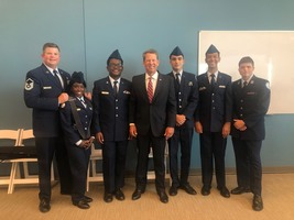 THS AFJROTC Serves at Historic Ribbon Cutting