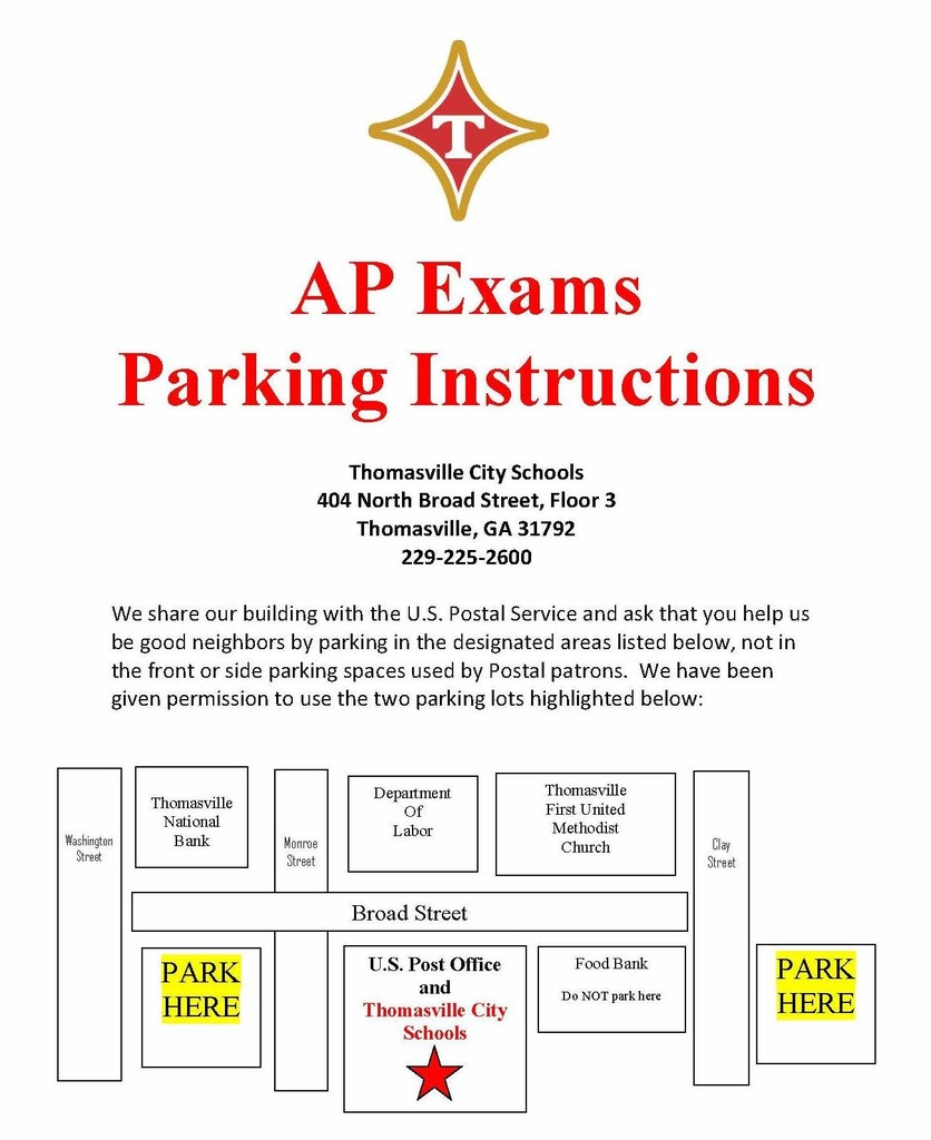 AP Parking Instructions