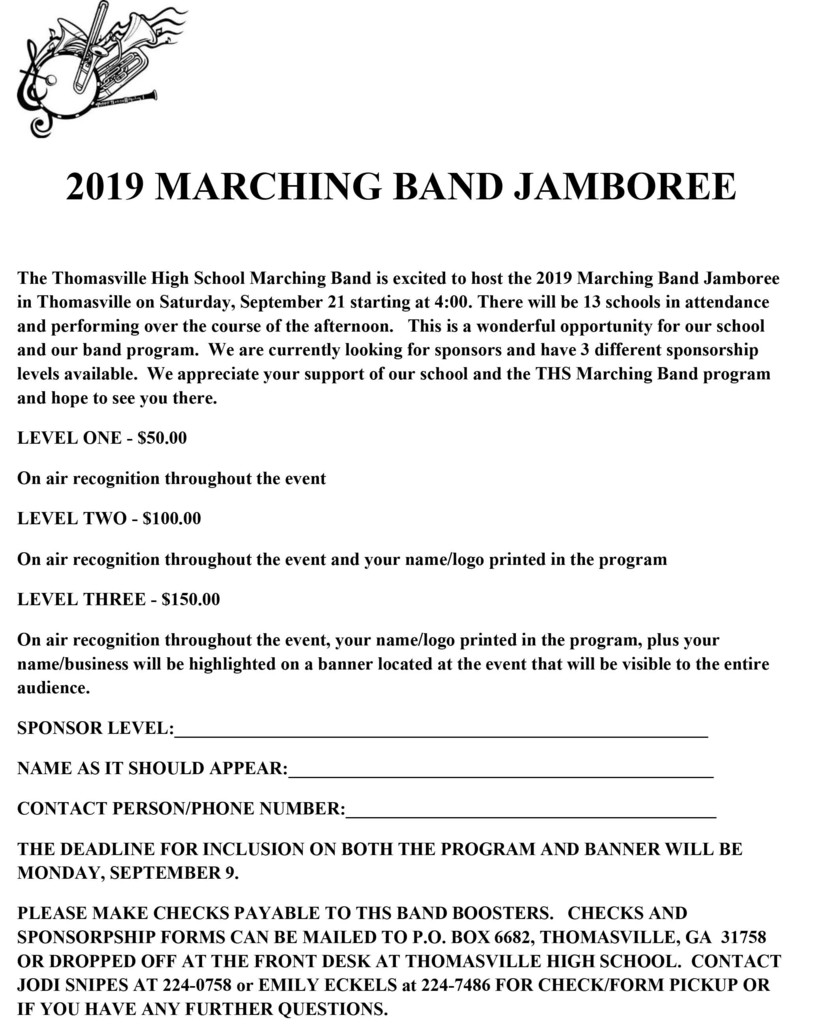 Marching Band Jamboree flyer