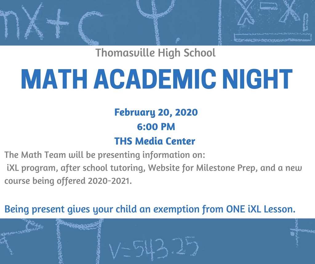Math Academic Night Flyer
