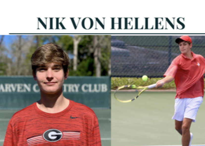 Nik Von Hellens receives a scholarship to play tennis at UGA