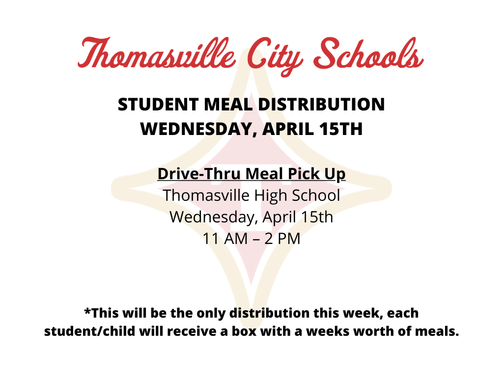 Student Meal Distribution April 15th