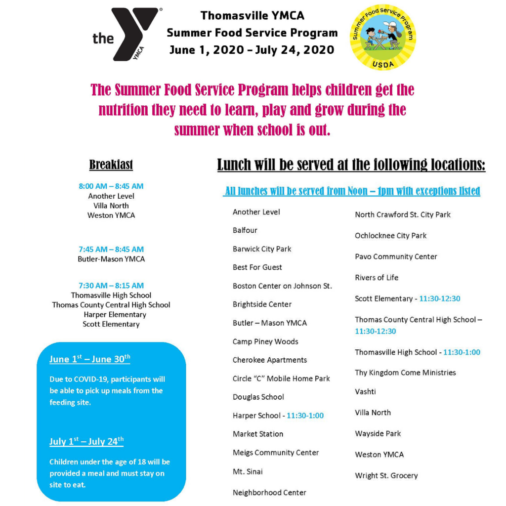 YMCA Summer Food